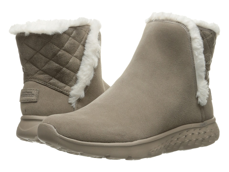 SKECHERS Performance - On-The-Go - Cozies (Taupe) Women's Pull-on Boots