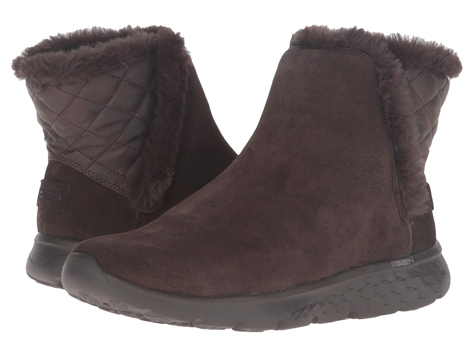 SKECHERS Performance - On-The-Go - Cozies (Chocolate) Women's Pull-on Boots