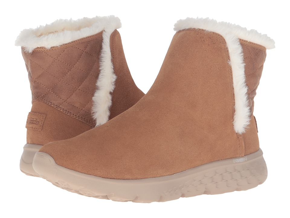 SKECHERS Performance - On-The-Go - Cozies (Chestnut) Women's Pull-on Boots