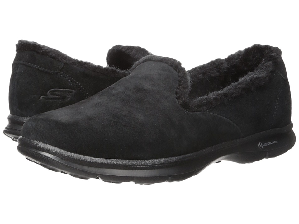 SKECHERS Performance - Go Step - Velvety (Black) Women's Slip on Shoes