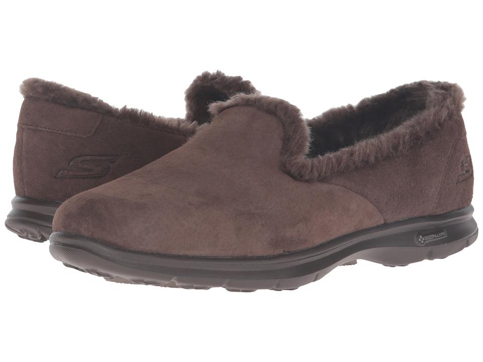 SKECHERS Performance - Go Step - Velvety (Chocolate) Women's Slip on Shoes