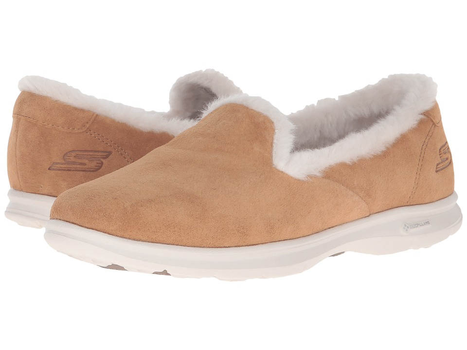 SKECHERS Performance - Go Step - Velvety (Chestnut) Women's Slip on Shoes