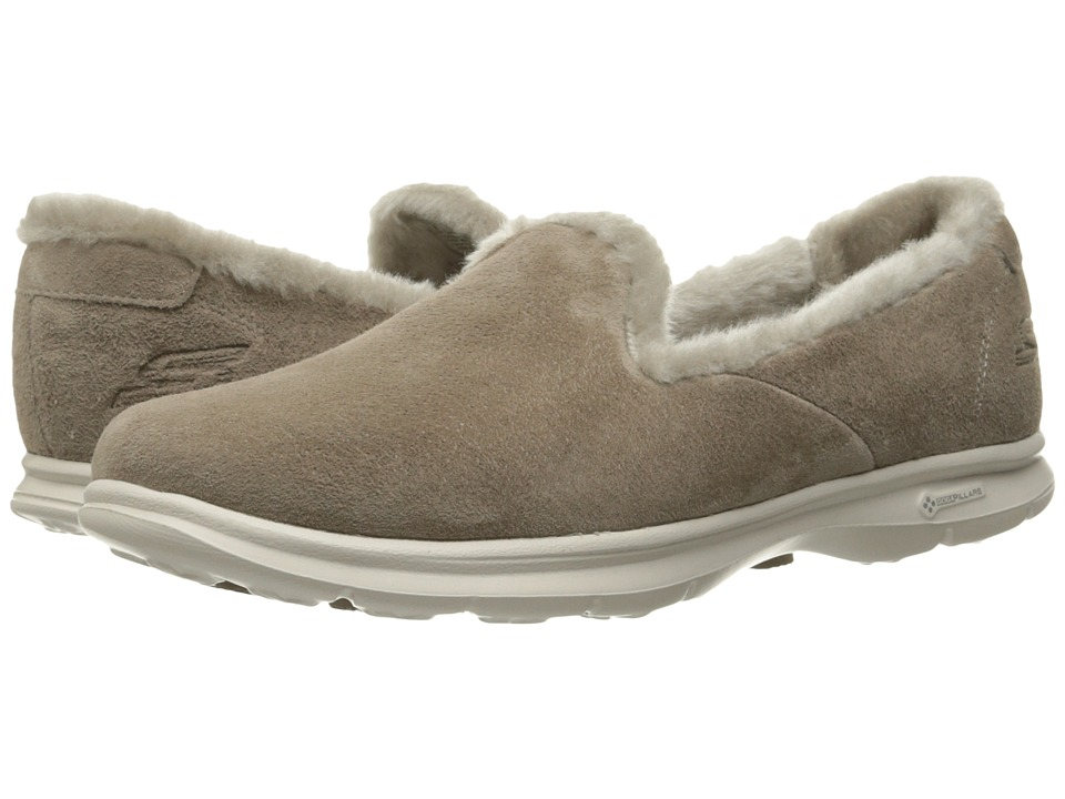 SKECHERS Performance - Go Step - Velvety (Taupe) Women's Slip on Shoes