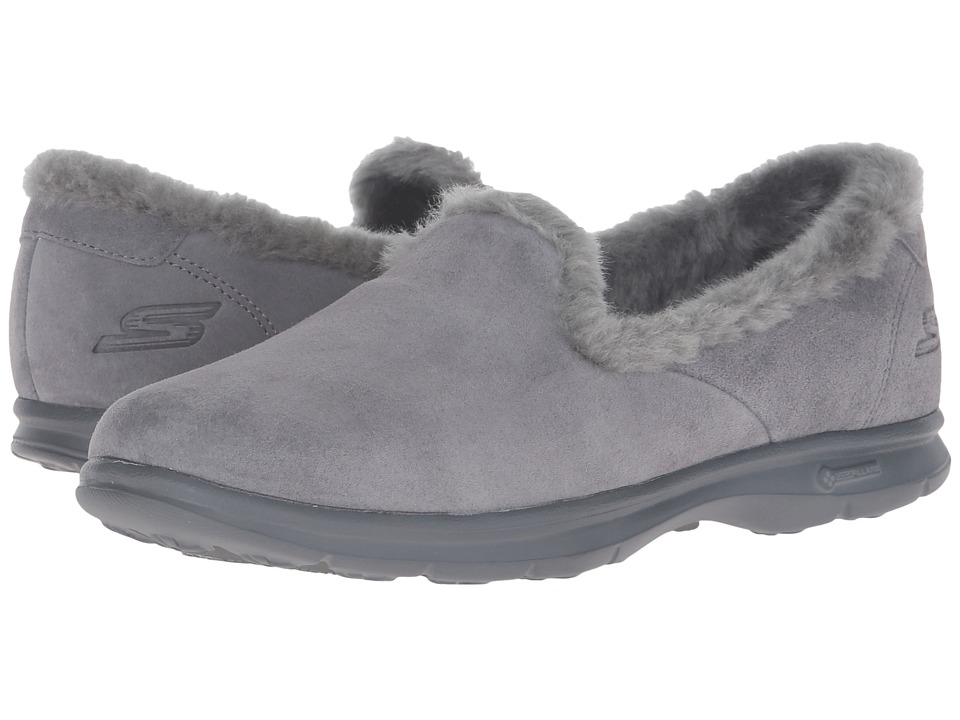 SKECHERS Performance - Go Step - Velvety (Charcoal) Women's Slip on Shoes