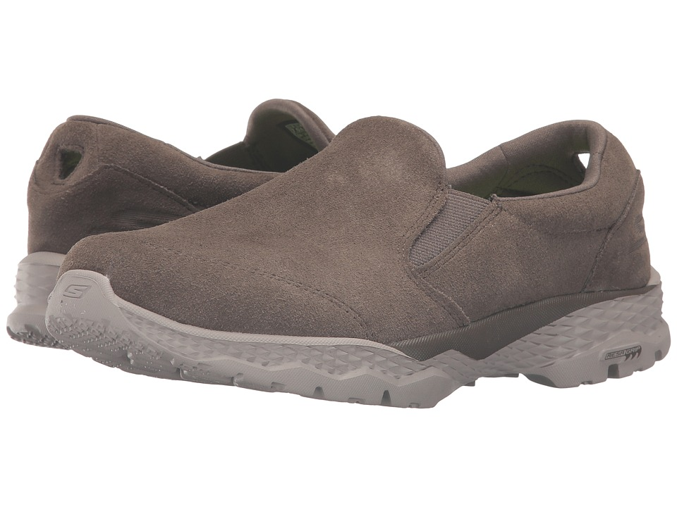 SKECHERS Performance - Go Walk Outdoor (Khaki) Women's Slip on Shoes