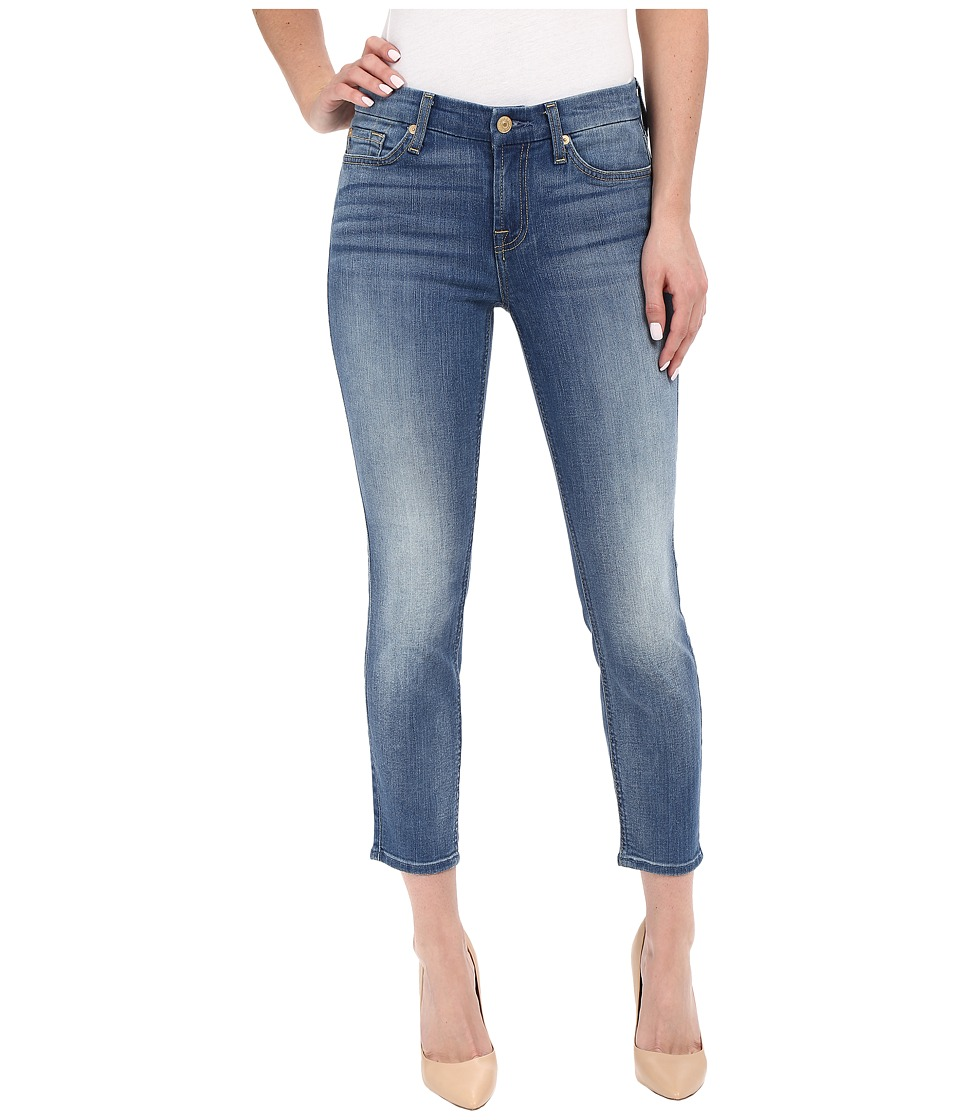 7 For All Mankind - Kimmie Crop in Supreme Vibrant Blue (Supreme Vibrant Blue) Women's Jeans