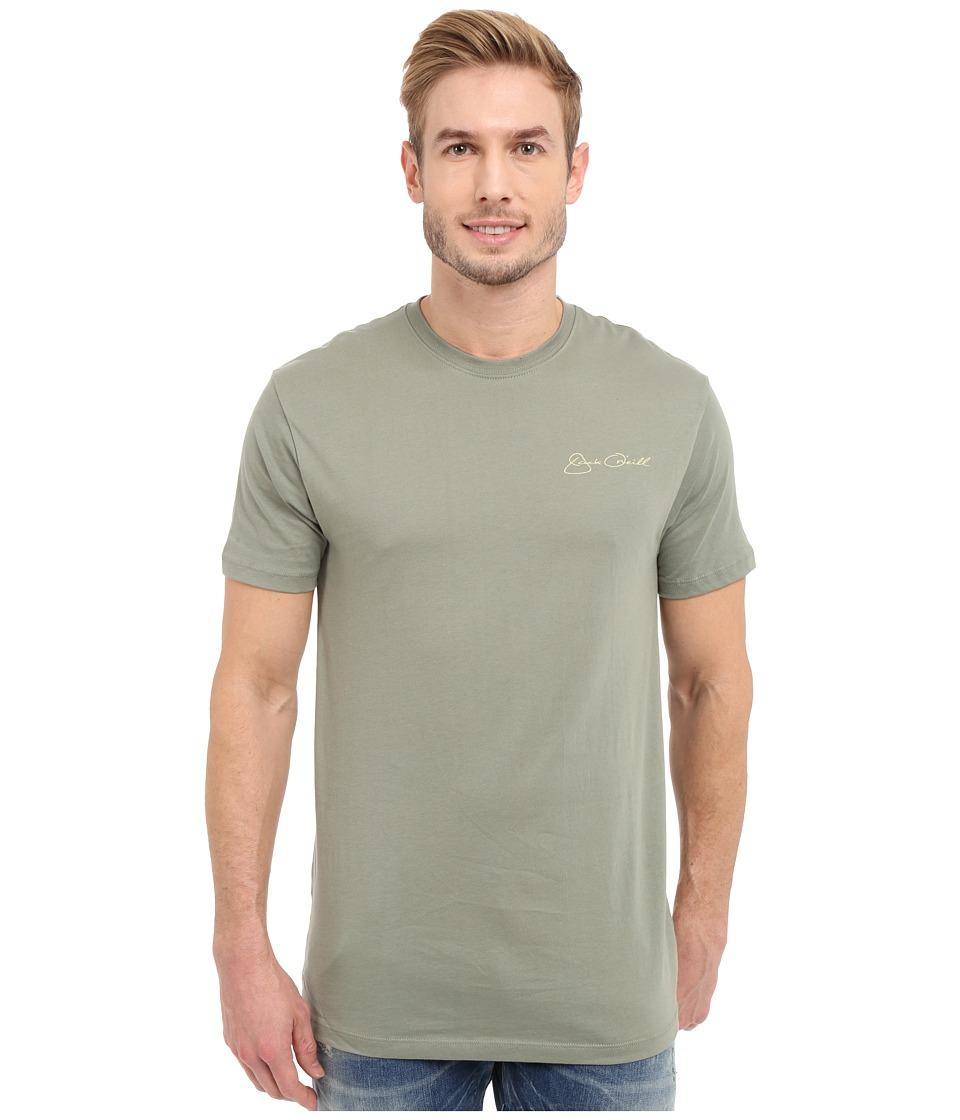 Jack O'Neill - Big Tuna Short Sleeve Screen Tee (Army) Men's Short Sleeve Pullover