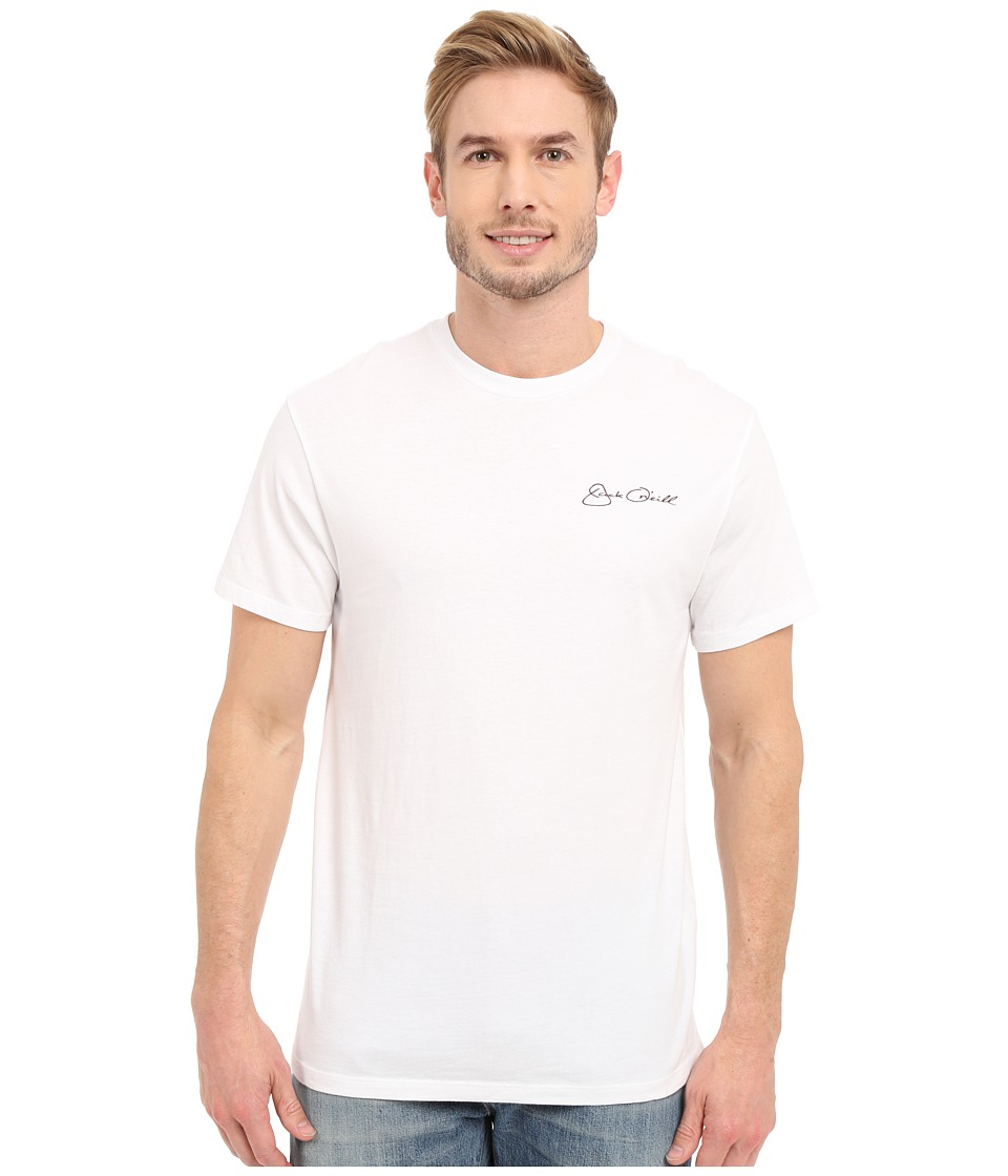 Jack O'Neill - Big Tuna Short Sleeve Screen Tee (White) Men's Short Sleeve Pullover