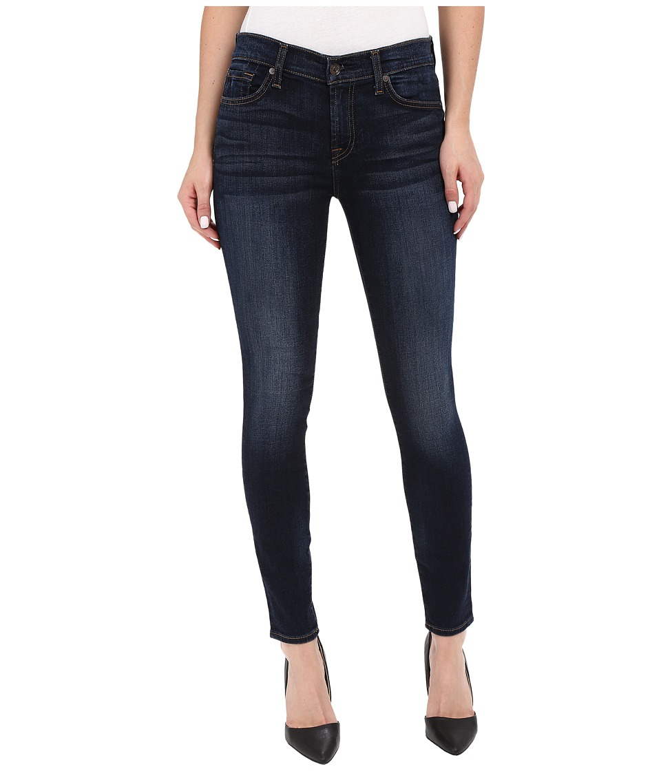 7 For All Mankind - The Ankle Skinny with Tonal Squiggle in Heritage Night (Heritage Night) Women's Jeans