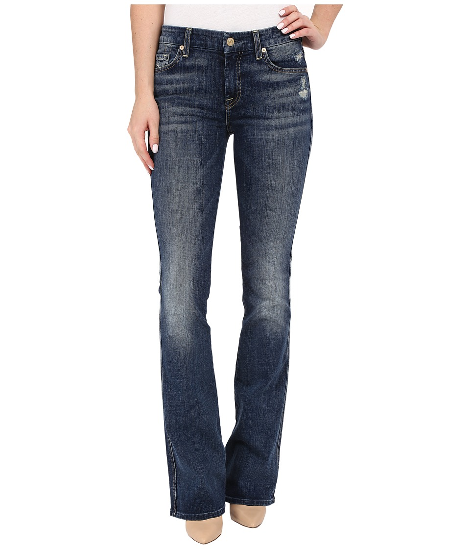 7 For All Mankind - A Pocket with Contrast A and Distress in Crete Island (Crete Island) Women's Jeans