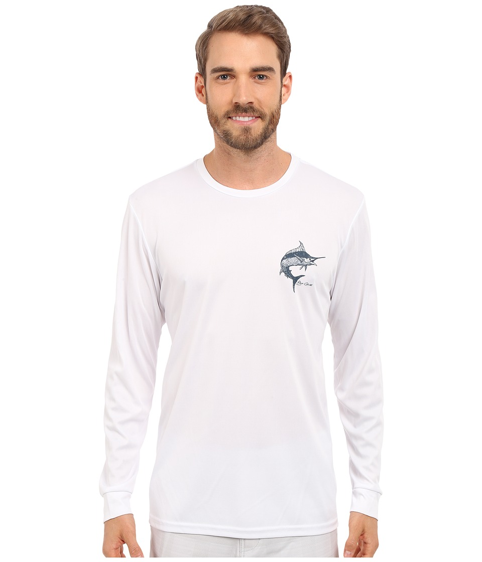 Jack O'Neill - Scripts Long Sleeve Screen Tee (White) Men's Long Sleeve Pullover