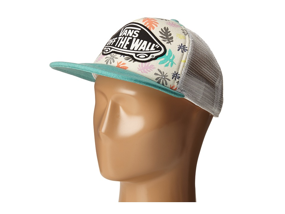 Vans - Beach Girl Trucker Hat (Washed Kelp Multi/White) Caps