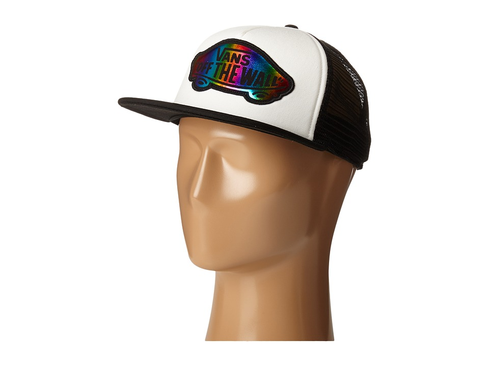 Vans - Beach Girl Trucker Hat (Black/Rainbow Foil) Caps