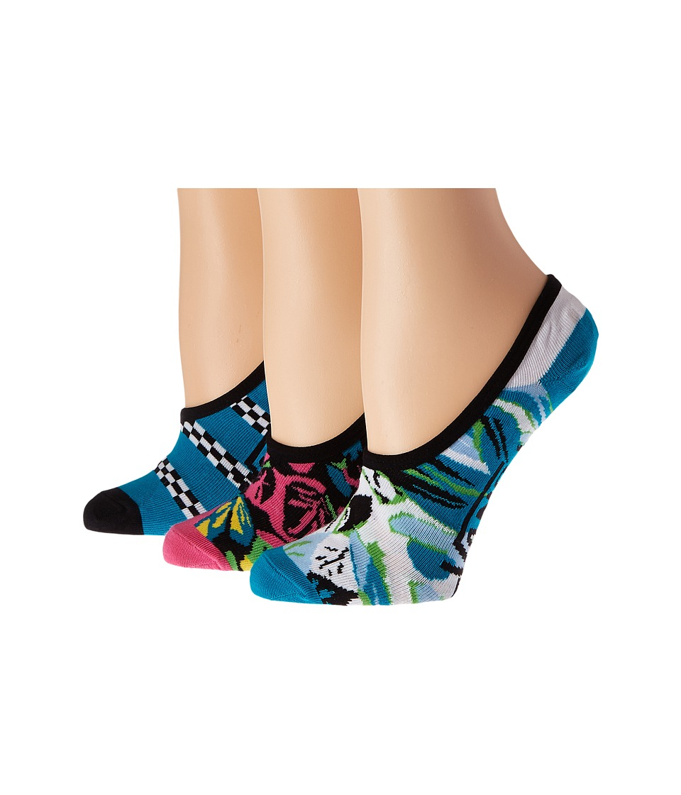 Vans - Ripped Floral 3-Pack (Black) Women's Crew Cut Socks Shoes