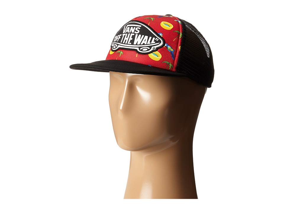 Vans - Beach Girl Trucker Hat (Racing Red) Caps