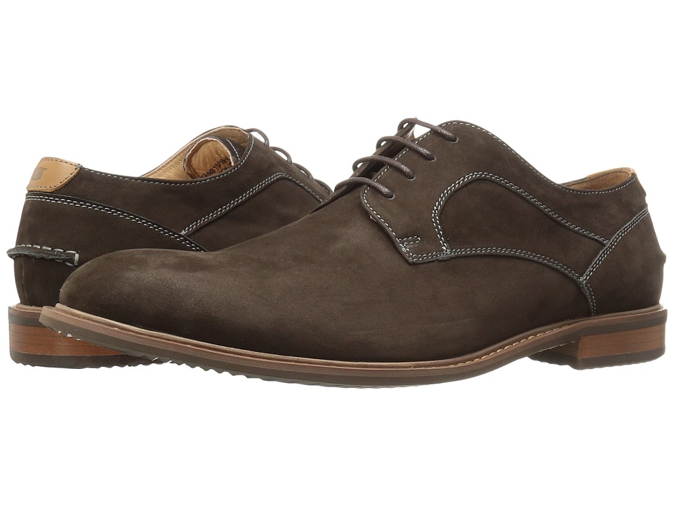 Florsheim Frisco Plain Toe Oxford (Brown Nubuck) Men