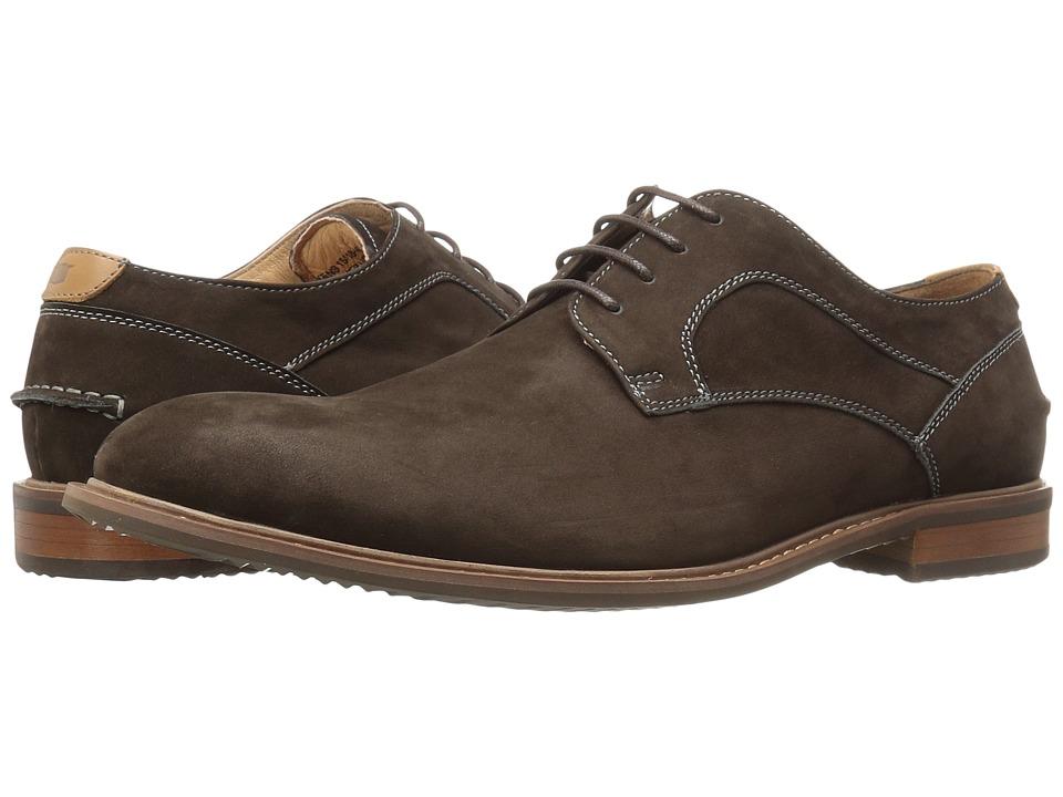 Florsheim - Frisco Plain Toe Oxford (Brown Nubuck) Men's Plain Toe Shoes