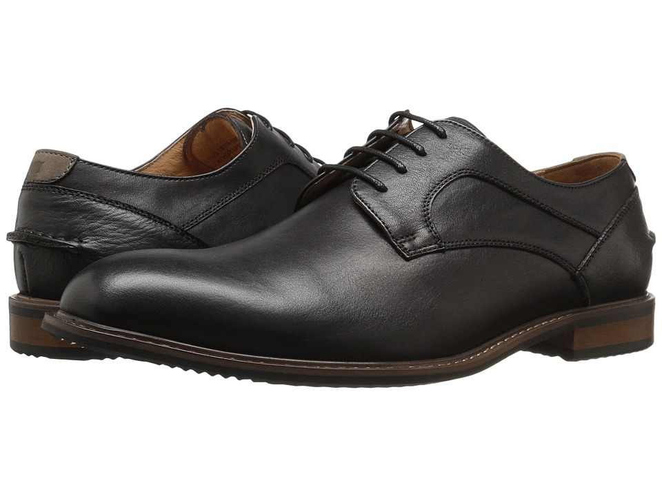 Florsheim Frisco Plain Toe Oxford (Black Smooth) Men