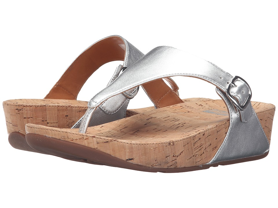 FitFlop - The Skinny Metallic (Silver) Women's Sandals