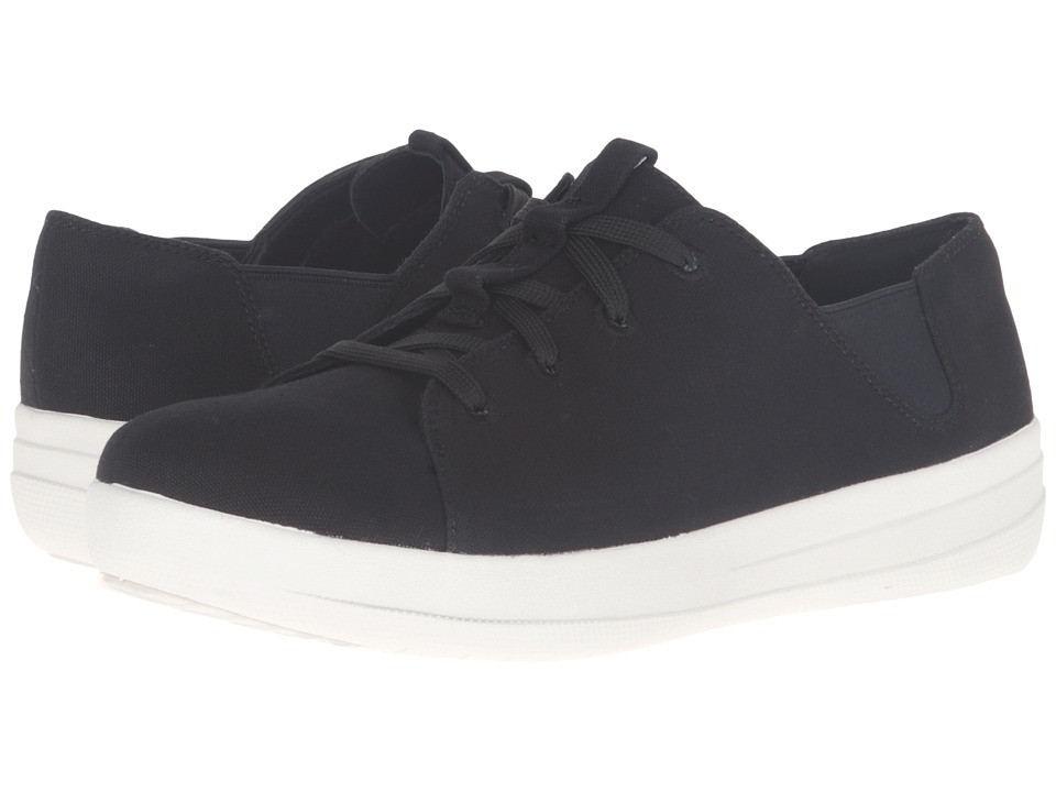 FitFlop - Sporty Lace-Up Sneaker (Black) Women's Lace up casual Shoes
