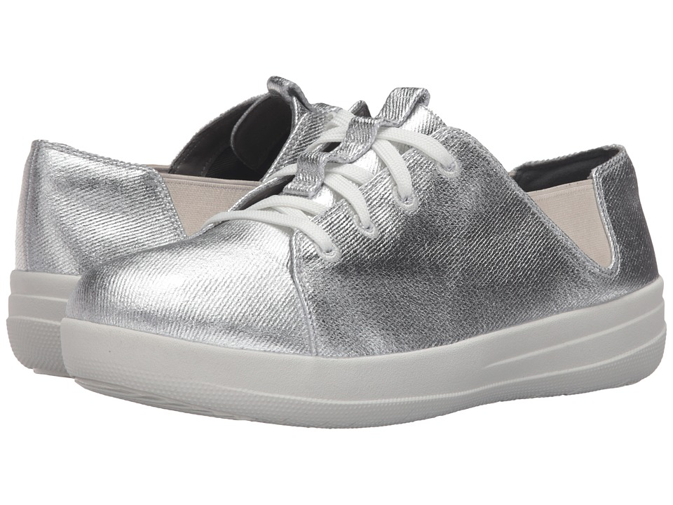 FitFlop - Sporty Lace-Up Sneaker (Silver) Women's Lace up casual Shoes