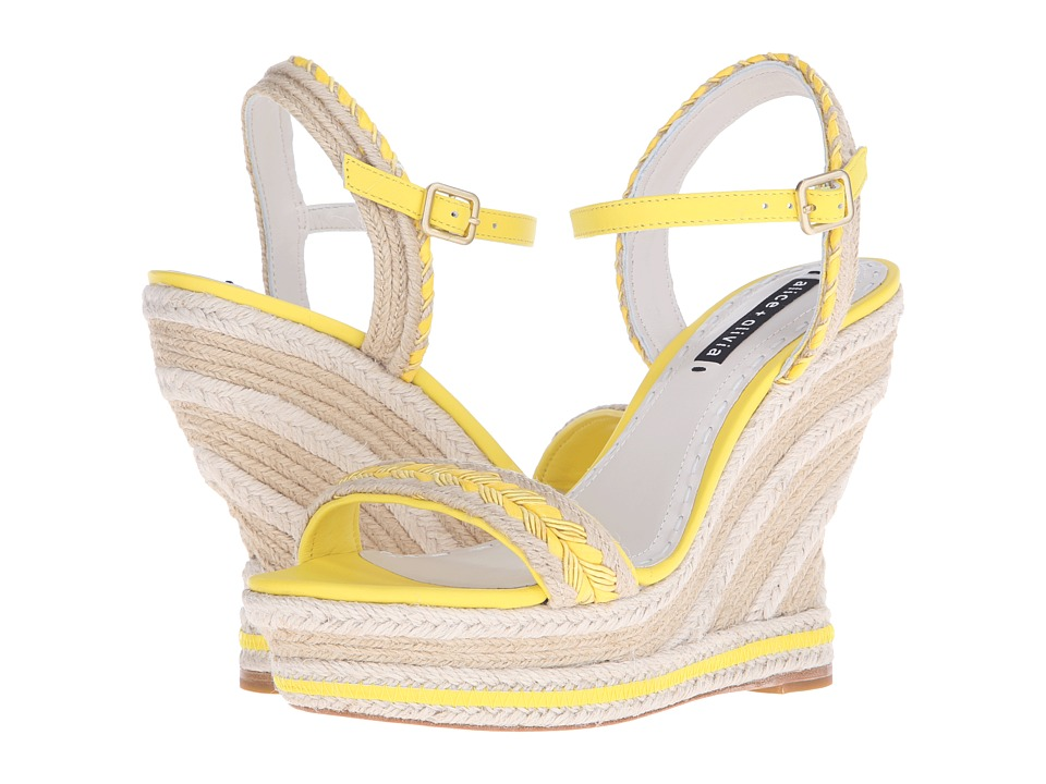 Alice + Olivia Janaya (Lemon/Natural Jute Braid/Dark Natural Jute) Women
