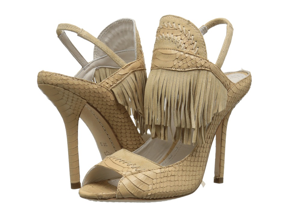 Alice + Olivia - Nadya (Warm Sand Snake Print/Fine Kid Suede) Women's Shoes