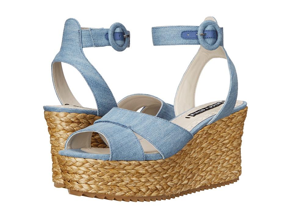 Alice + Olivia - Roberta (Blue Denim Fabric) Women's Shoes