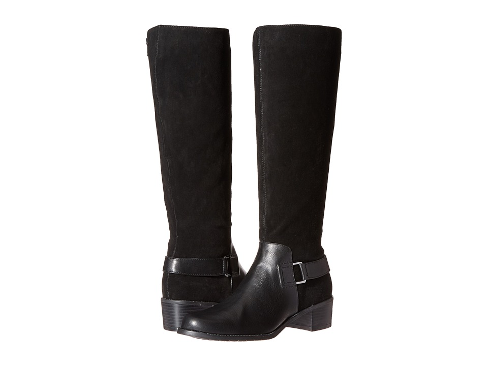 Aerosoles - After Hours (Black Combo) Women's Pull-on Boots