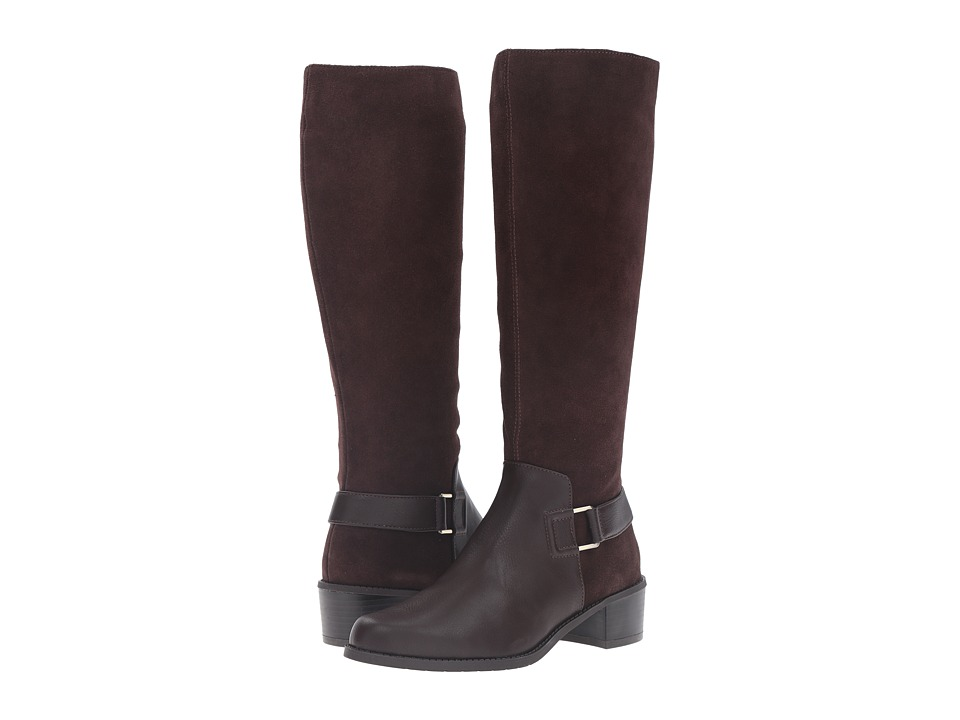 Aerosoles - After Hours (Dark Brown Combo) Women's Pull-on Boots