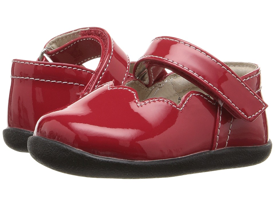 See Kai Run Kids - Savannah (Infant/Toddler) (Red Patent) Girl's Shoes