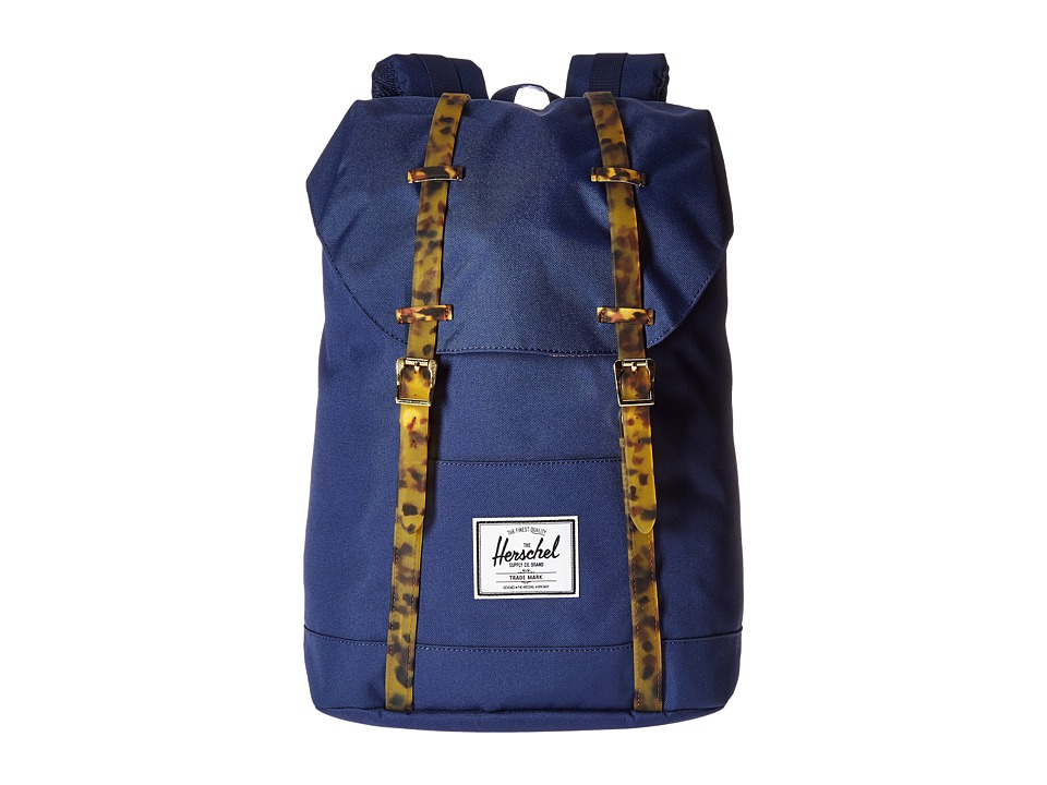 Herschel Supply Co. - Retreat (Twilight Blue/Tortoise Shell Rubber) Backpack Bags