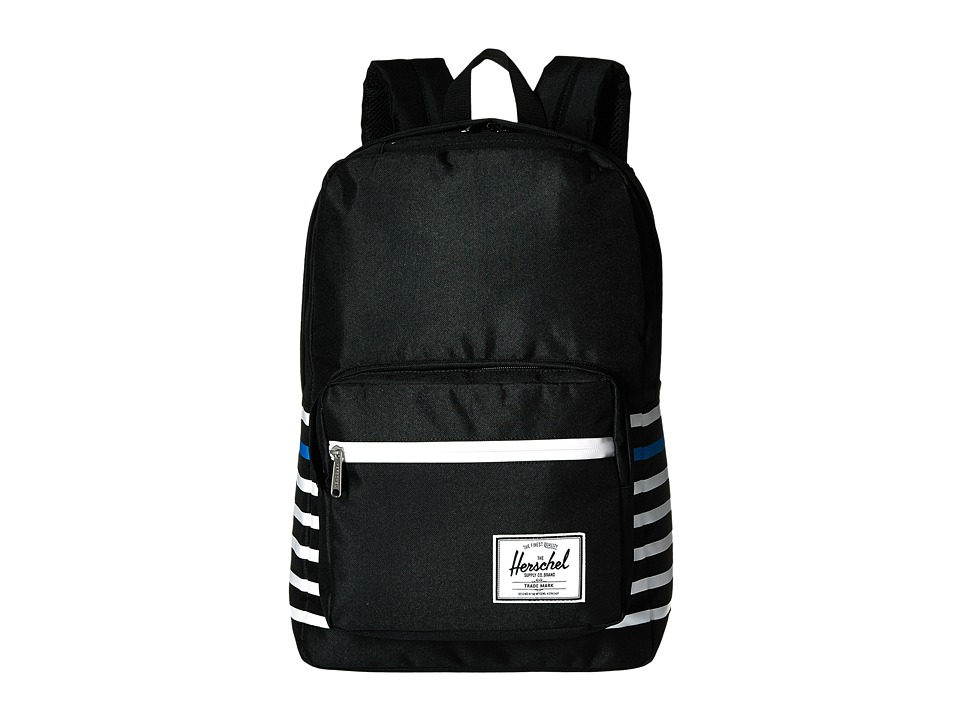 Herschel Supply Co. - Pop Quiz (Black Offset Stripe) Backpack Bags