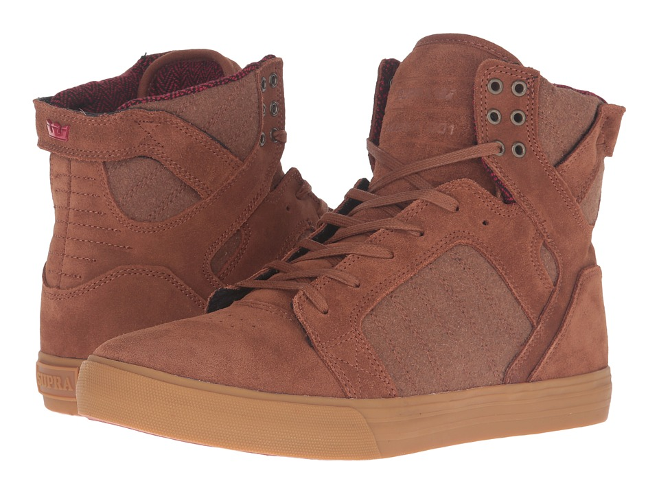 Supra - Skytop (Brown Leather) Men's Skate Shoes