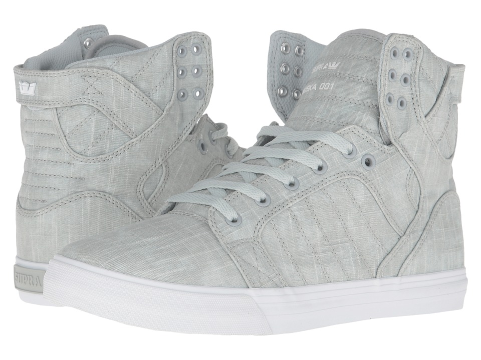 Supra - Skytop (Washed Grey Canvas) Men's Skate Shoes