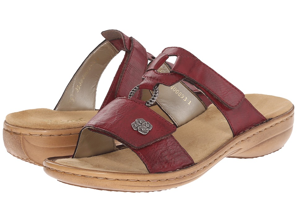Rieker - 60829 Regina 29 (Wine) Women's Sandals