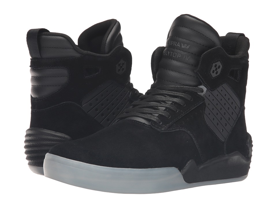 Supra - Skytop IV (Black Leather/Suede) Men's Skate Shoes
