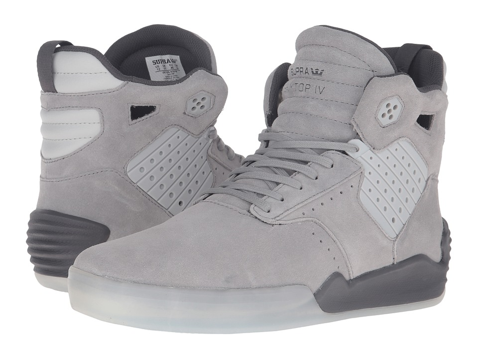 Supra - Skytop IV (Grey Suede) Men's Skate Shoes