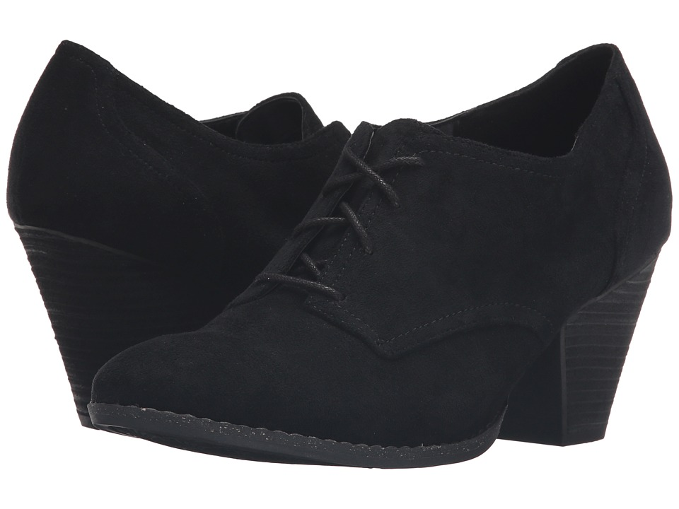 Dr. Scholl's - Cheer (Black Microsuede) Women's Shoes