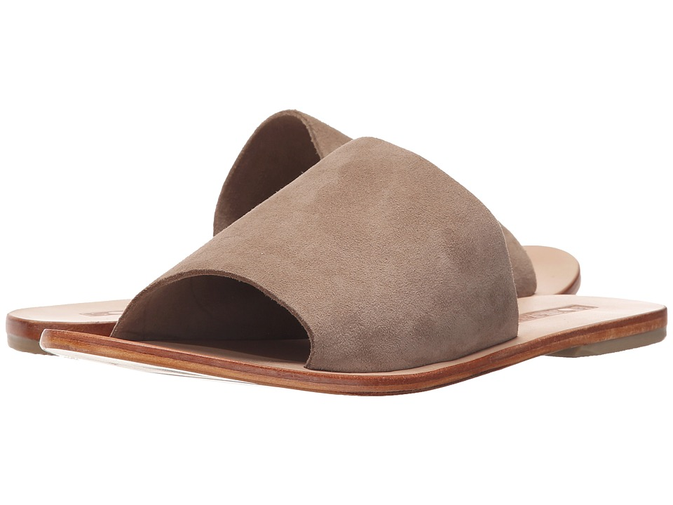 Sol Sana - Teresa Li Slide (Taupe Suede) Women's Slide Shoes