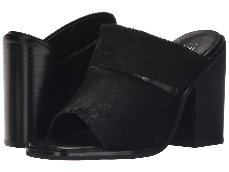 Sol Sana - Dice Mule (Black Pony Croc) Women's Clog/Mule Shoes
