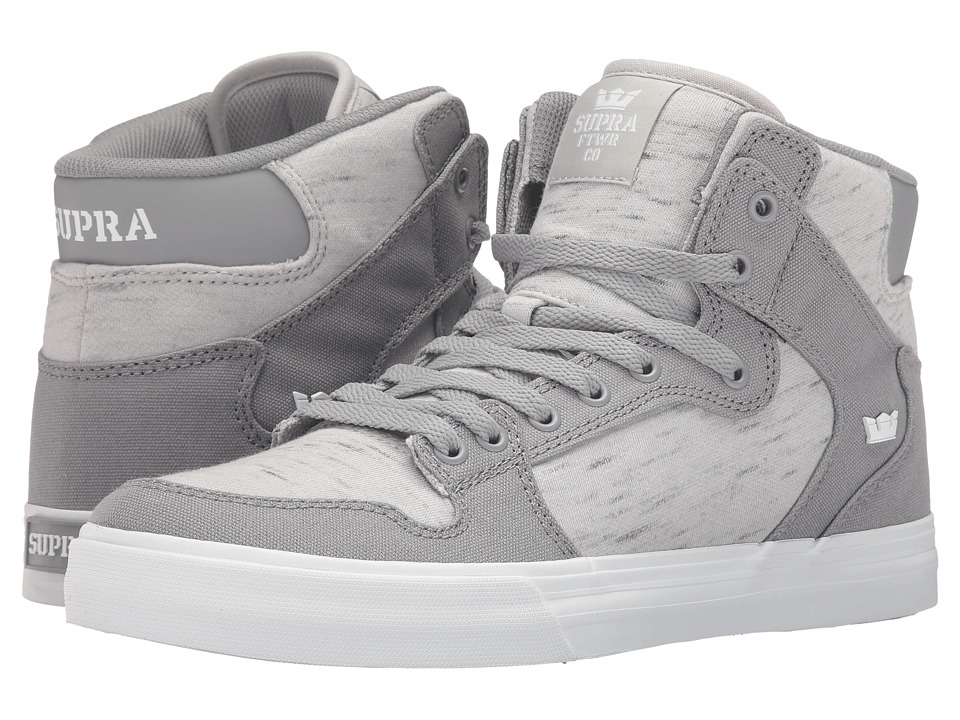 Supra Vaider (Grey Canvas) Skate Shoes