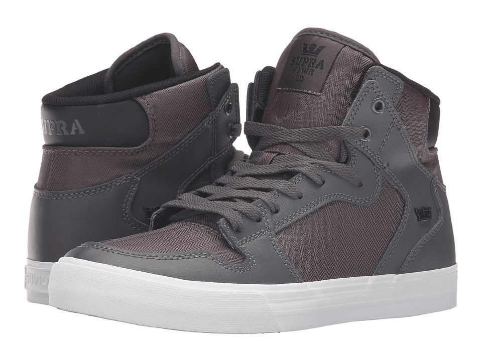 Supra - Vaider (Charcoal Leather) Skate Shoes