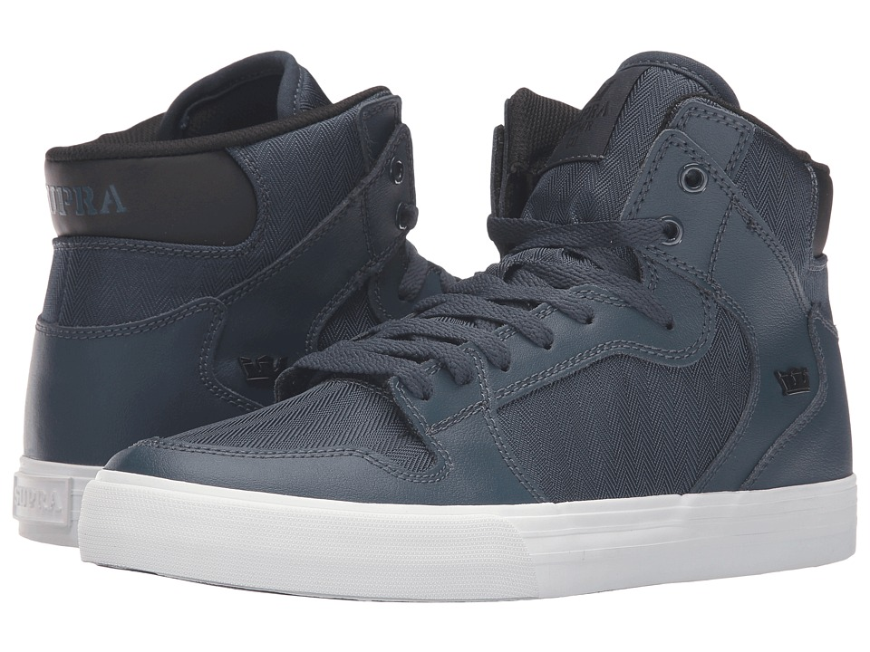 Supra - Vaider (Navy Leather) Skate Shoes