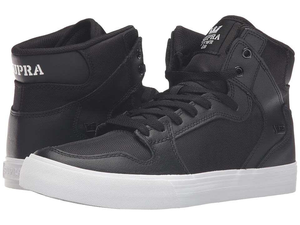 Supra - Vaider (Black Leather) Skate Shoes