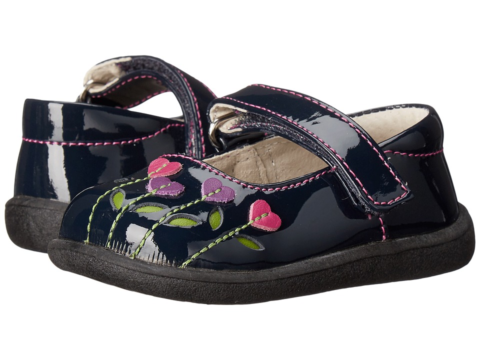 See Kai Run Kids - Tricia (Toddler) (Navy Patent/Berry) Girl's Shoes
