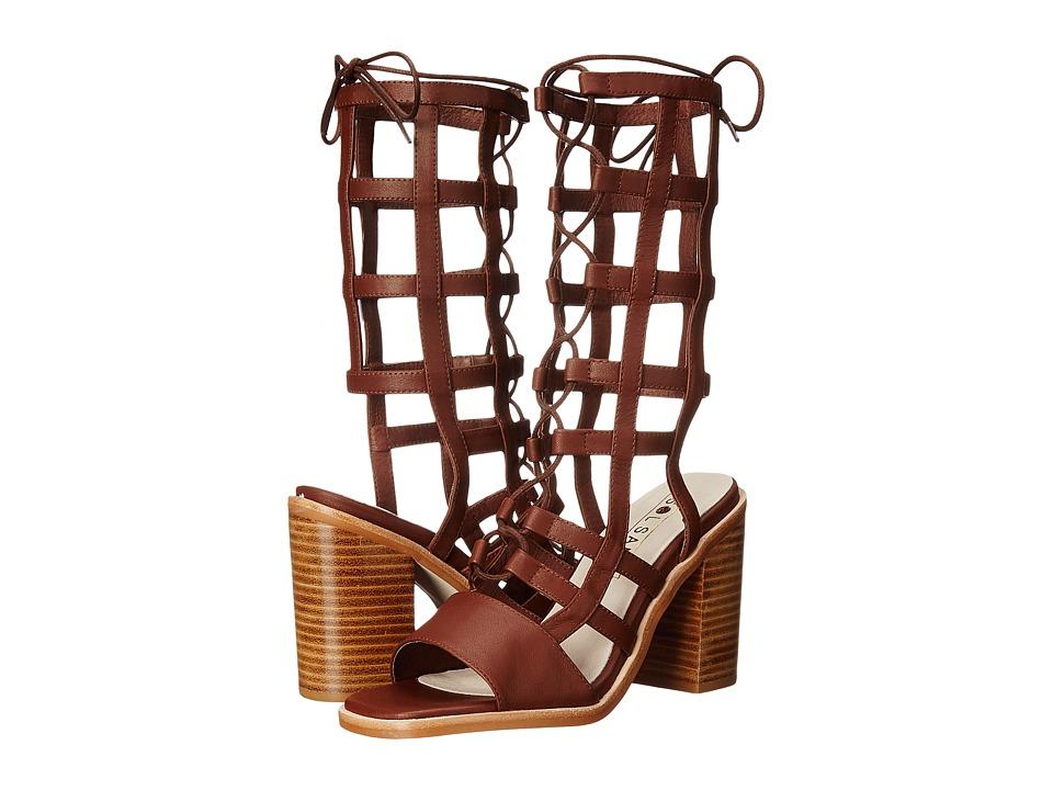 Sol Sana Ebony Heel (Chestnut) High Heels