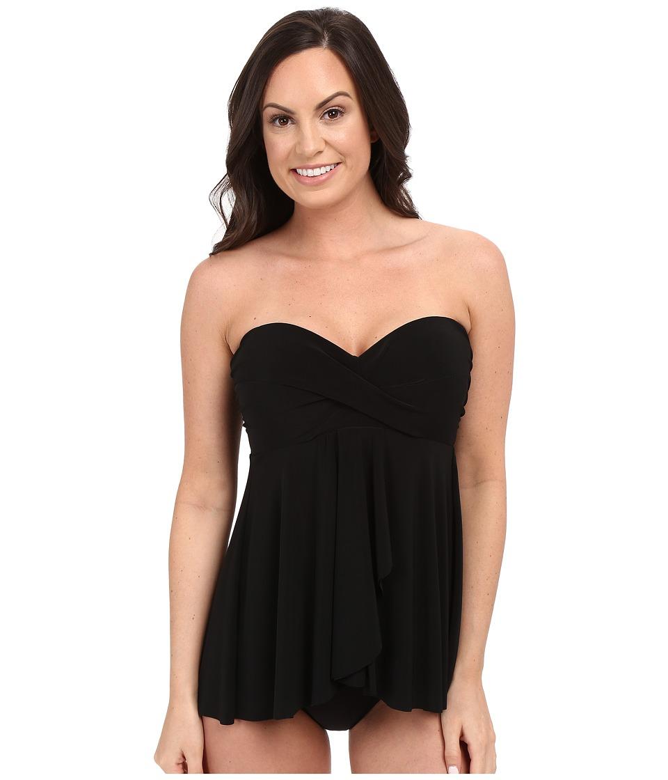 Miraclesuit - Solid Separates Cadiz Tankini Top (Black) Women's Swimwear