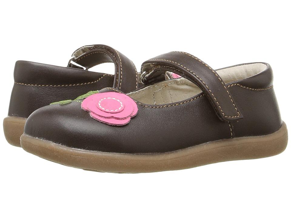 See Kai Run Kids - Carli (Toddler) (Brown/Hot Pink) Girl's Shoes