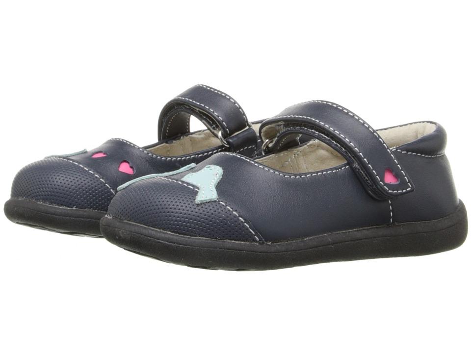 See Kai Run Kids - Kathryn II (Toddler) (Navy/Light Blue) Girl's Shoes